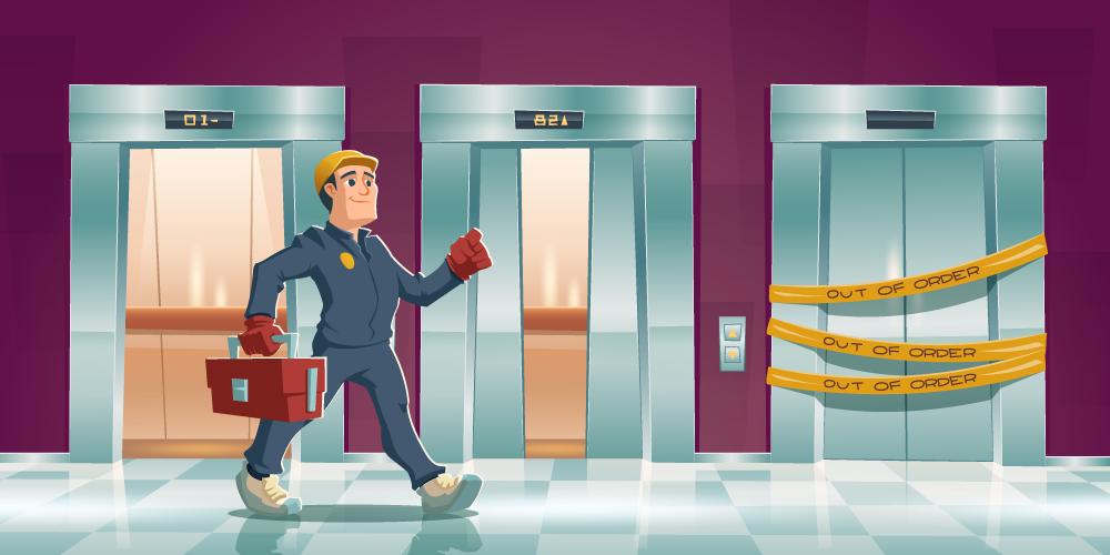 تعمیرات آسانسور2