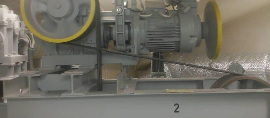 محل قرارگیری شاسی موتور آسانسور